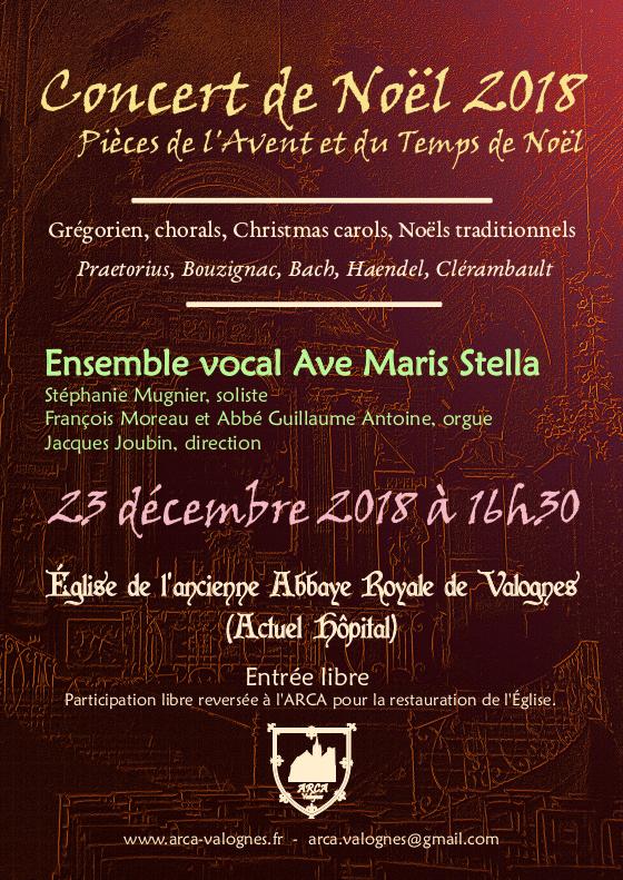 Concert le 23 Décembre 2018 – 16h30 – Choeur Ave Maris Stella